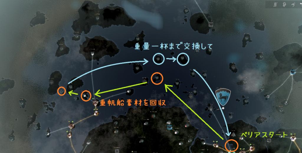 黒い砂漠 駆逐艦 素材